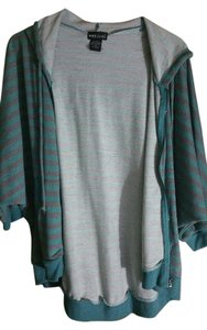 Wet Seal Green Striped Batwing Sweatshirt