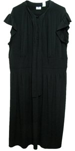 Black Maxi Dress by Worthington Classy Size 22w Long New Women Nwt Tie Maxi Summer Plus 2x Short Sleeve