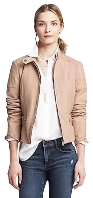 Item - Blush Pink Quilted Leather Moto Jacket Size 6 (S)