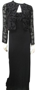 Kay Unger New Party 2 Piece Long Sheer Beaded Cardigan Size 6 Dress
