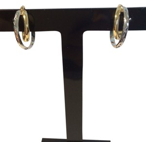 Other 14K Solid Gold Overlap Hoop Earring