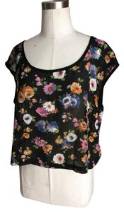 Millau Cropped Woven Back Top Multi