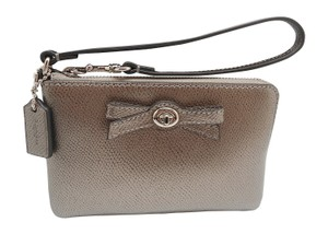 Coach Wristlet in Gunmetal