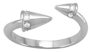 Sterling Collections Rhodium Plated Sterling Silver CZ Spike Wrap Ring (sizes 5-9)...New Arrival