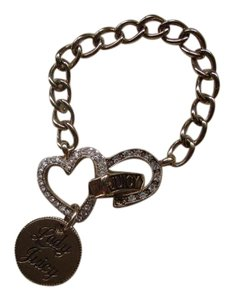 Juicy Couture Rhinestone Heart and Horseshoe Chain Bracelet