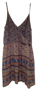 Joie short dress Blue Floral Flowy Silk on Tradesy