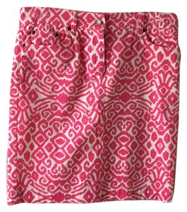 Jones New York Skirt Hot pink and white.
