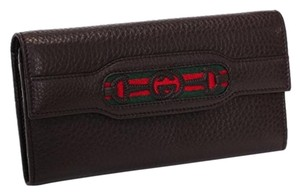 Gucci 295353 Soho Interlocking G Brown Leather Clutch Wallet