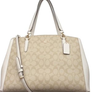 Coach Satchel in Light Khaki / Chalk