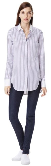 Preload https://img-static.tradesy.com/item/16326979/theory-whitefiery-red-fedele-c-shirt-button-down-top-size-6-s-0-1-650-650.jpg
