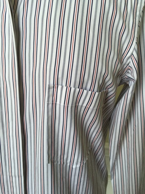 Theory Button Down Shirt White/Fiery Red