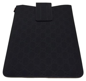 Gucci Gucci GG Guccissima Leather iPad Sleeve Case Navy 256575