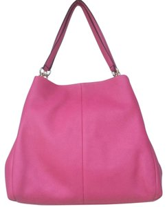 Coach Zipper Pink Hobo Shoulder Bag