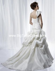Anjolique Pale Ivory Taffeta A209 Modern Wedding Dress Size 4 (S)