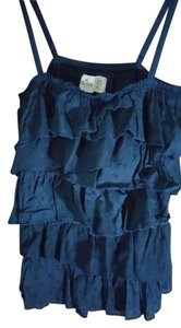 Hollister Ruffle Top navy