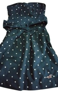 Hollister short dress navy, white Polka Dot Bow on Tradesy