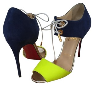 Christian Louboutin Blue, Yellow Sandals
