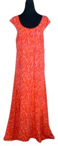 Pink Orange Maxi Dress by Jessica London Maxi Full Length