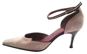 Sergio Rossi Suede Leather Sole Made In Italy Brown Tan Pumps
