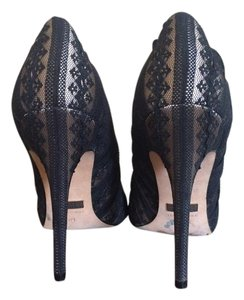 Badgley Mischka Black Lace Pumps