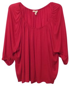 Joie Soft Draped Knit Newbury Top Red