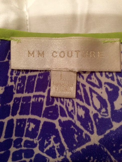 MM Couture Green Crocodile Top Blue