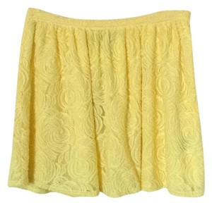 PJK Patterson J. Kincaid Mini Skirt Yellow lace