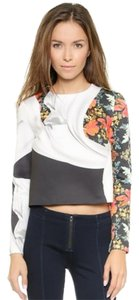 Clover Canyon Crop Floral Top Multi