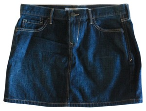 Old Navy Jean Dark Mini Skirt Dark Blue