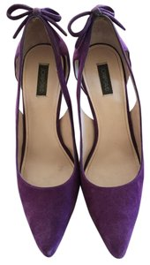 Joan & David Purple Suede Pumps