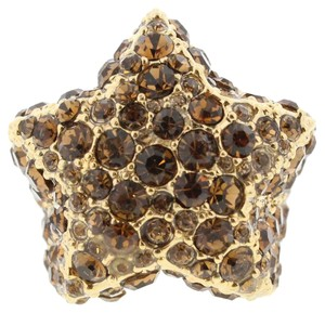 Marc by Marc Jacobs Marc Jacobs Statement Star Ring Gold Topaz NIB