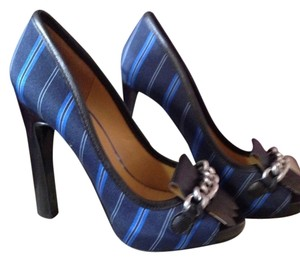 Nine West Black And Navy Platforms