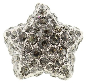 Marc by Marc Jacobs Marc Jacobs Statement Star Ring Silver Black Crystal NIB