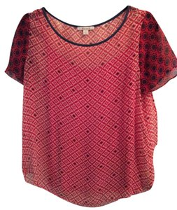 Ella Moss Top Red and Navy