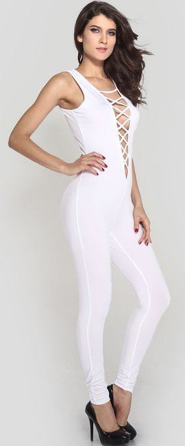 Other Jumpsuit White Halter Top