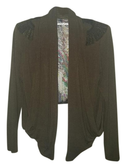 Preload https://img-static.tradesy.com/item/16331569/military-green-and-black-leather-blazer-size-os-one-size-0-1-650-650.jpg