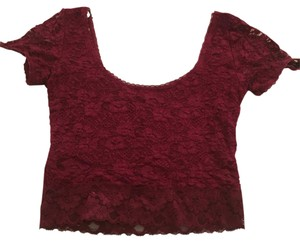 Forever 21 T Shirt Maroon