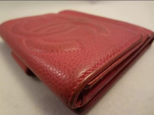 Chanel AUTHENTIC CHANEL WALLET HOT PINK (DARKER PINK) CAVIAR LEATHER COCO PURSE