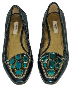 Prada teal leather Pumps