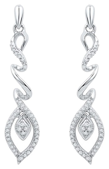 Other BrianG 10k WHITE GOLD 0.27 CTTW DIAMOND FASHION EARRINGS