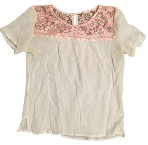 Forever 21 T Shirt White and pink