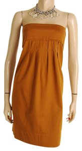 Stella McCartney short dress Brown Strapless Luxury Cotton on Tradesy