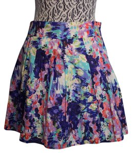 dELiA*s Pleated Mini Skirt Floral