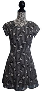 Divided by H&M short dress Black Bird Print Short on Tradesy