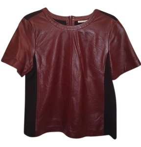 Halogen Top Oxblood tan leather and black