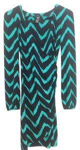 INC International Concepts short dress Black and teal on Tradesy