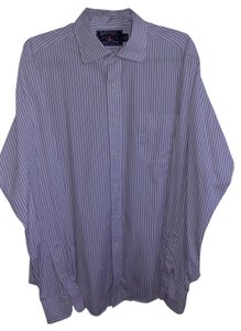 American Living Button Down Dress Shirt Men's Button Down Shirt Black & Pink pinstripes