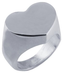 Very Nice Sterling Silver Heart Signet Ring