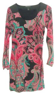 INC International Concepts short dress Black, pink, teal on Tradesy