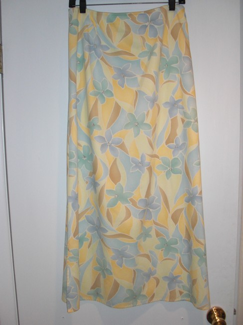 Talbots Maxi Skirt Floral Multicolor